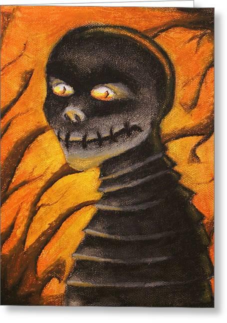 Monster- Orange Greeting Card