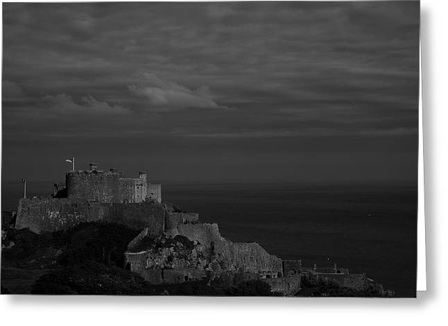 Mont Orgueil Castle Greeting Card by  Adrian G