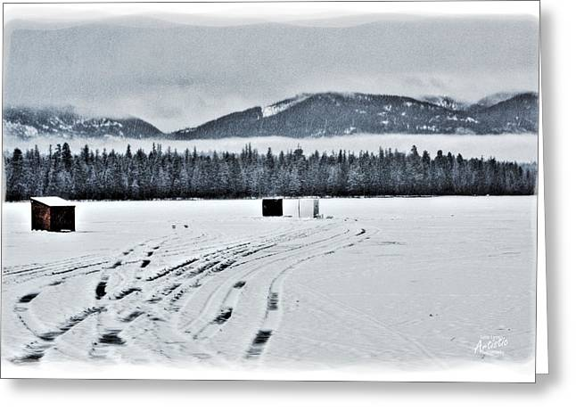 Greeting Card featuring the photograph Montana Ice Fishing by Janie Johnson