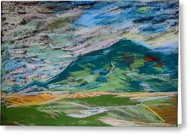 Montana Range Greeting Card by Francine Frank