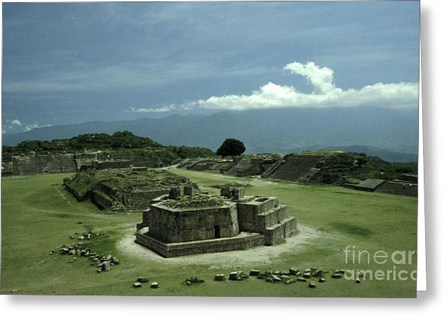 Monte Alban Plaza Greeting Card by John  Mitchell