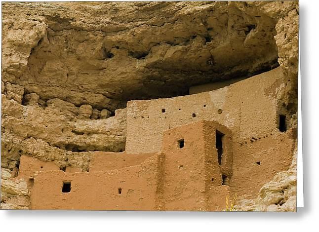 Greeting Card featuring the photograph Montezuma's Castle by Tom Singleton