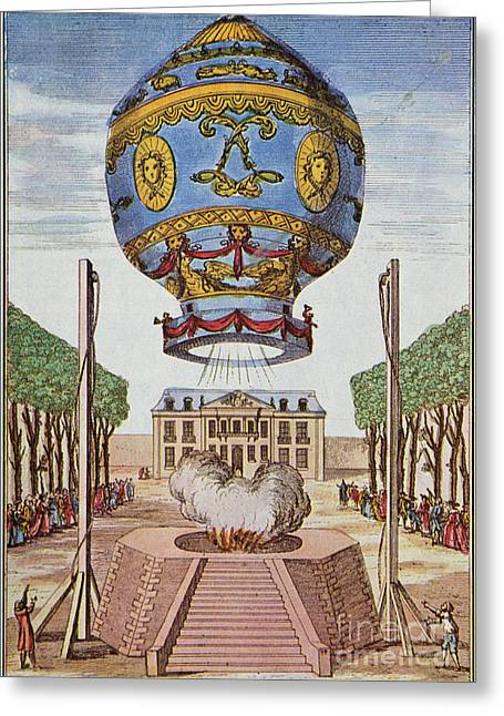 Montgolfier Hot Air Balloon Greeting Card by Science Source