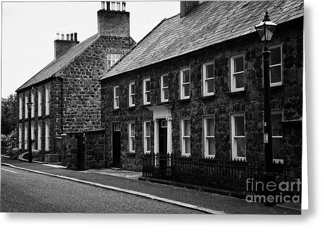 Montgomery Street In 18th Century Gracehill Village A Moravian Settlement In County Antrim Greeting Card by Joe Fox