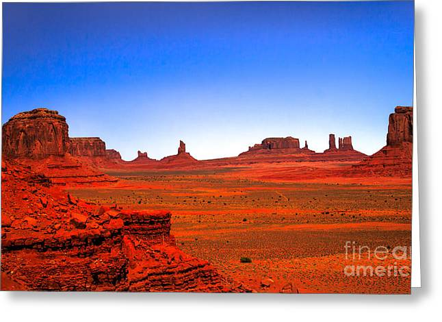 Monument Valley Greeting Card by Robert Bales