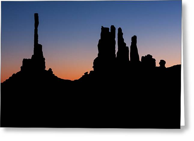 Monument Valley Two Greeting Card by Josh Whalen