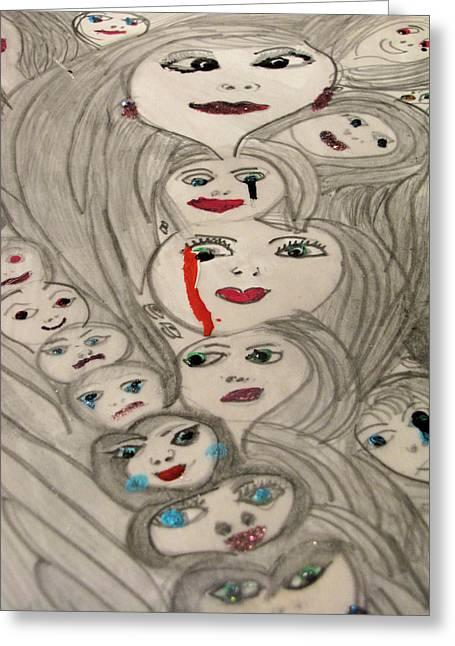 Moods Greeting Card by HollyWood Creation By linda zanini