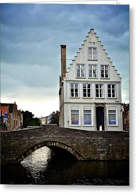 Moody Bruges Greeting Card