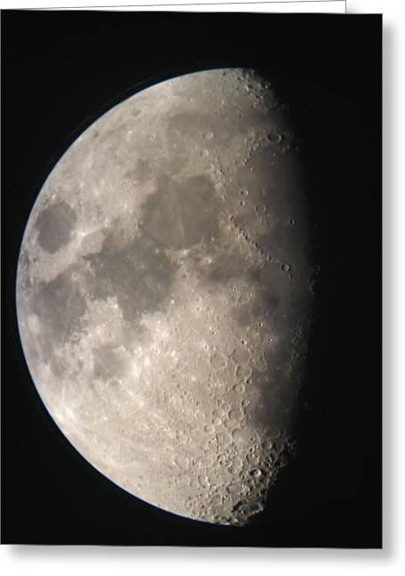 Greeting Card featuring the photograph Moon Against The Black Sky by John Short