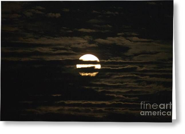 Greeting Card featuring the photograph Moon Behind The Clouds by William Norton