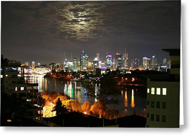 Moon Light Lace Of Brisbane Greeting Card