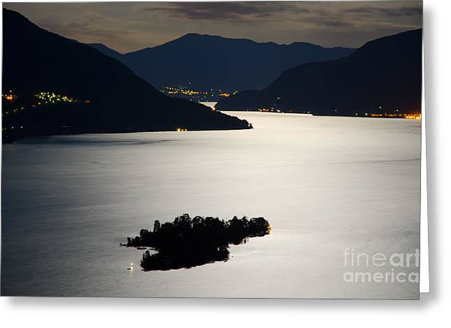 Moon Light Over Islands Greeting Card