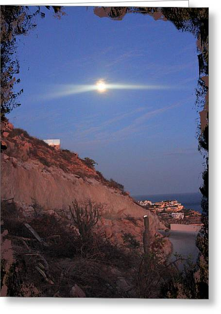 Moon Over Cabo Greeting Card