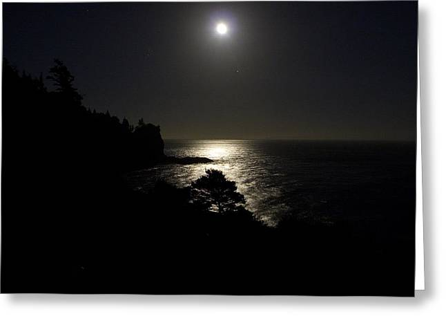 Greeting Card featuring the photograph Moon Over Dor by Brent L Ander