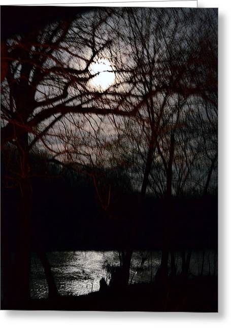 Moon Over Maury Greeting Card