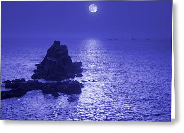 Moon Over Water Greeting Card by Tony Craddock