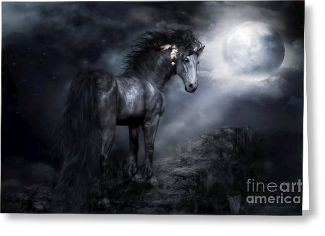 Moon Shadow Greeting Card by Shanina Conway