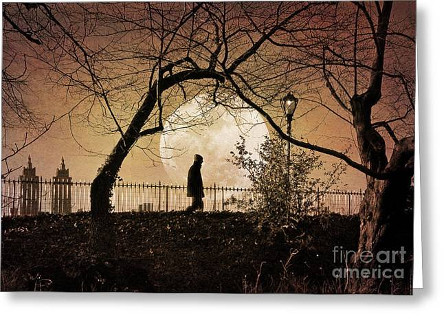 Greeting Card featuring the photograph Moon Walker by Deborah Smith