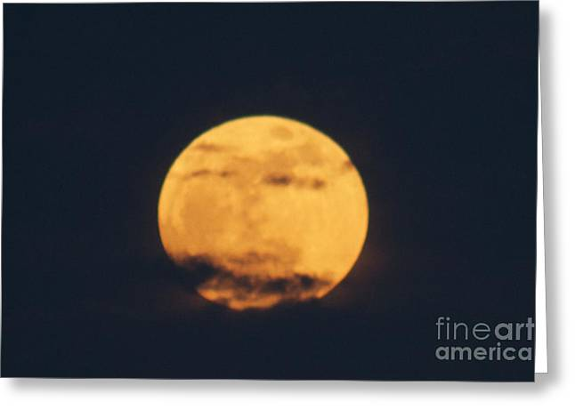 Greeting Card featuring the photograph Moon by William Norton