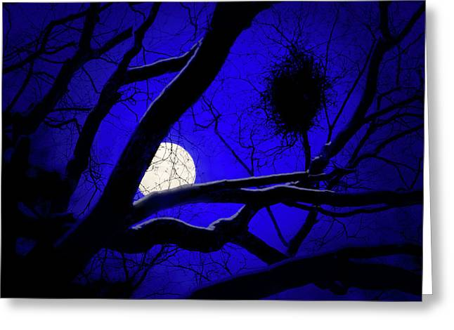 Moon Wood  Greeting Card