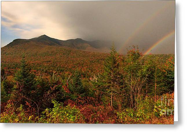 Moonbow Over The Kancamagus Greeting Card