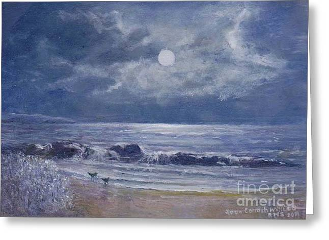 Moonglow Greeting Card by Joan Cornish Willies