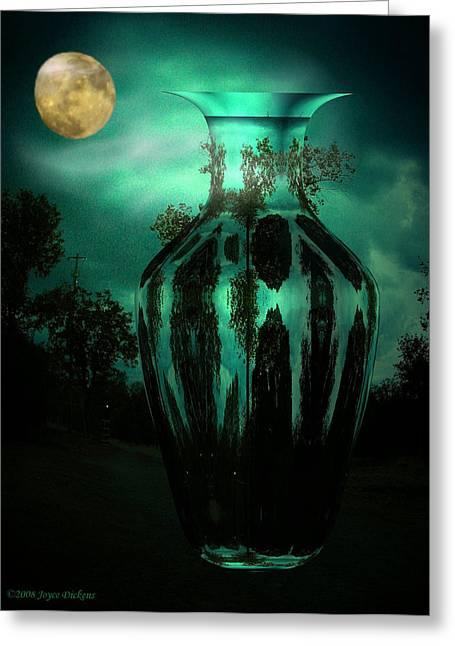 Moonglow Greeting Card by Joyce Dickens