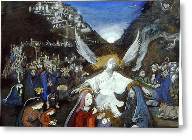 Moonlight Nativity Greeting Card