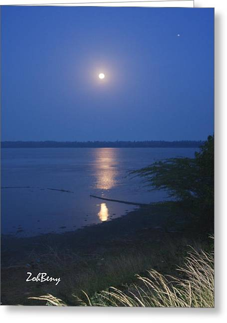 Moonlight Photography Greeting Card by Zoh Beny