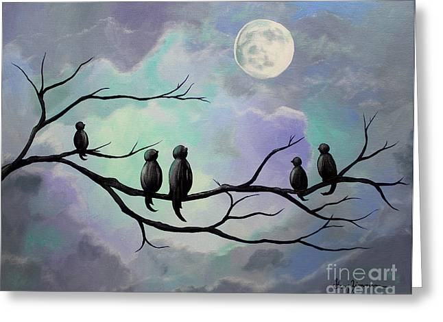 Greeting Card featuring the painting Moonlight Sonata by Stacey Zimmerman