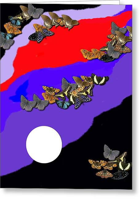 Moonlight Greeting Card by Val Oconnor