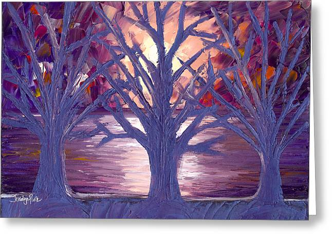 Moonlight Whispers Greeting Card by Jessilyn Park