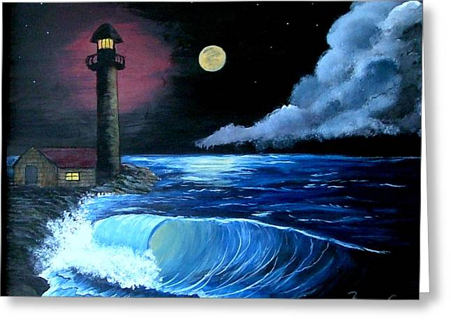 Moonlit Ocean Greeting Card