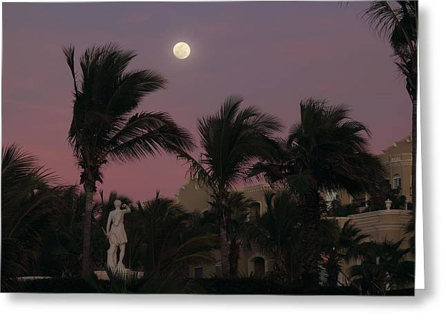 Moonlit Resort Greeting Card by Shane Bechler