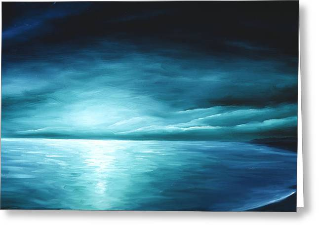 Moonrise II Greeting Card by James Christopher Hill