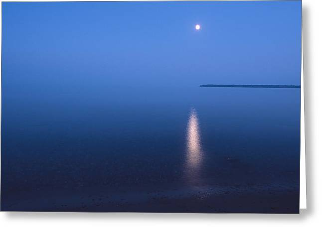 Moonrise On Lake Superior Greeting Card
