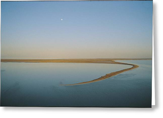 Moonrise Over Flooded Lake Greeting Card by Jason Edwards