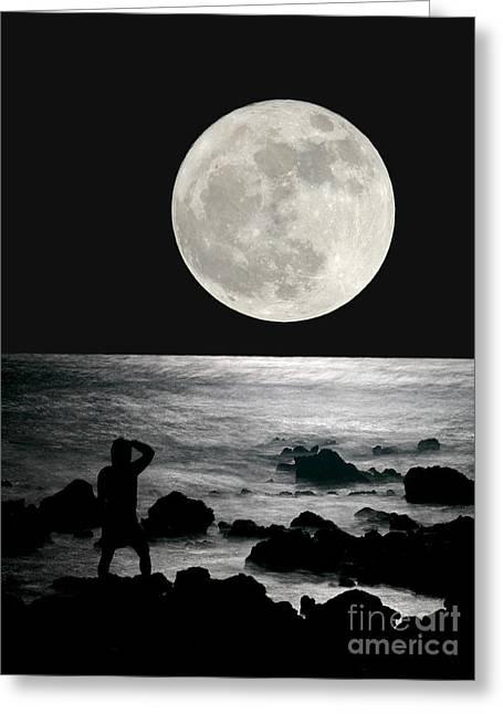 Moonrise Greeting Card by Paul Topp
