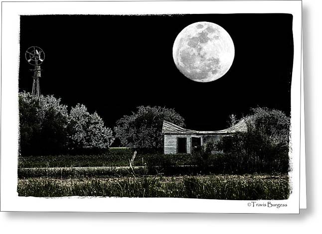 Greeting Card featuring the photograph Moon's Light by Travis Burgess