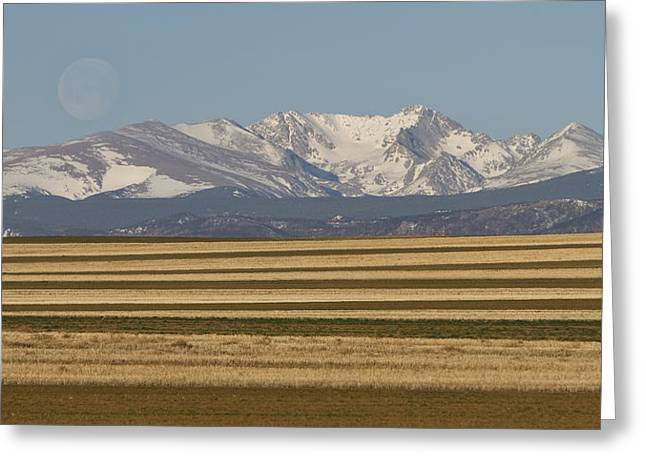 Moons Set On The Colorado Plains Greeting Card by James BO  Insogna