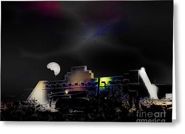 Moonset - Wild Horse Saloon Greeting Card by Arne Hansen