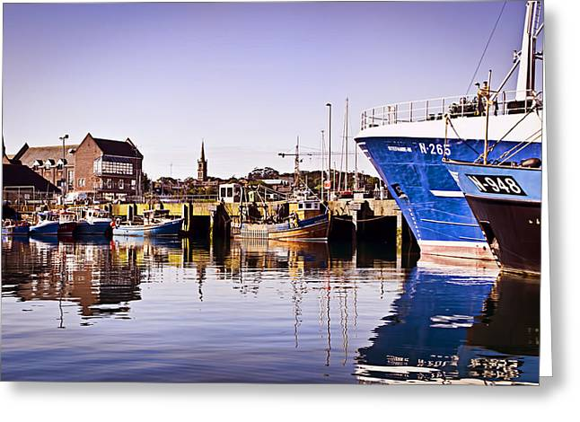 Moored Up Greeting Card by Chris Cardwell