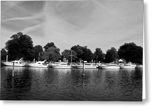 Greeting Card featuring the photograph Mooring Line by Maj Seda