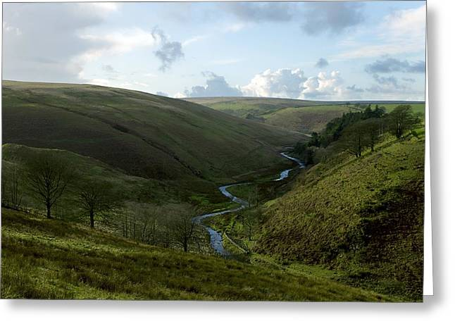 Moorland Valley Greeting Card by Dr Keith Wheeler