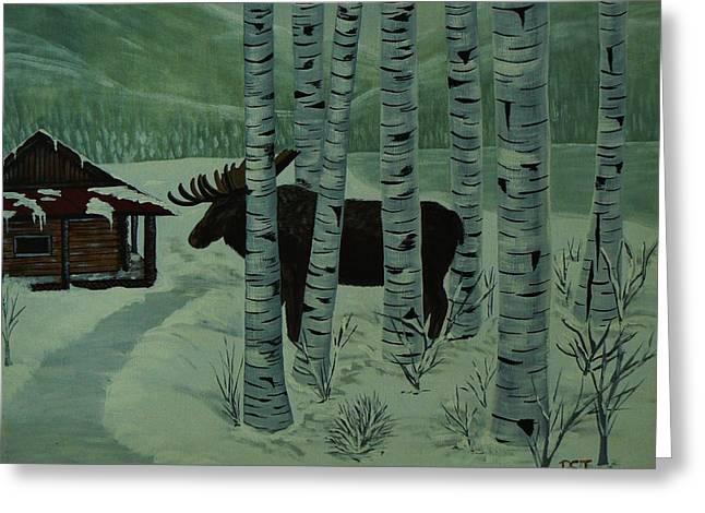 Moose Lake Greeting Card by Barbara St Jean