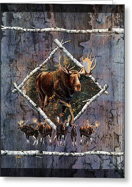 Moose Lodge Greeting Card