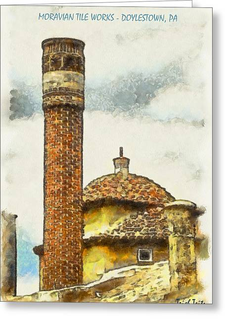 Moravian Tile Works Greeting Card by Trish Tritz