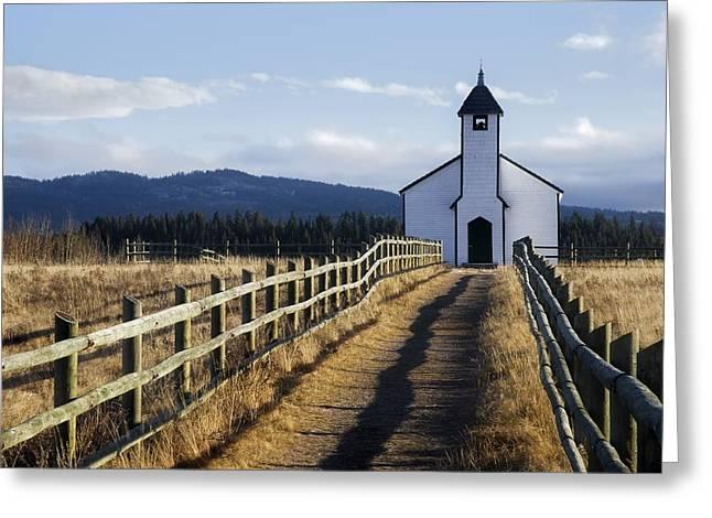 Morley Church, Morley, Alberta, Canada Greeting Card by Philippe Widling