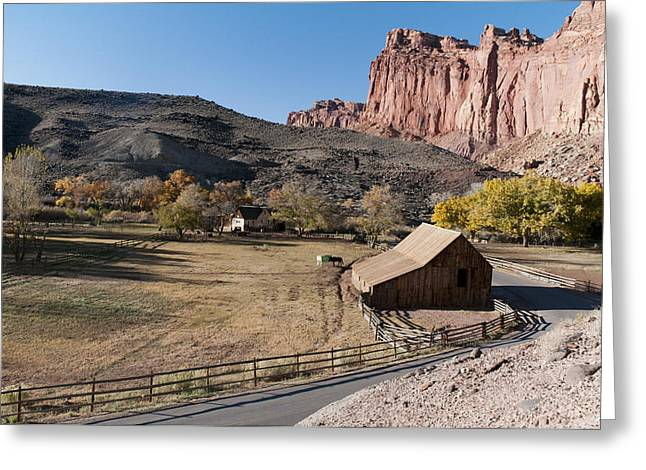 Mormon Farm Capitol Reef N.p. Greeting Card