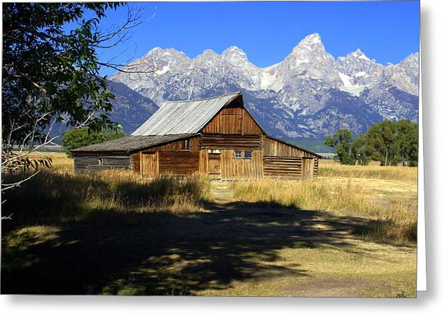 Greeting Card featuring the photograph Mormon Row Barn by Marty Koch